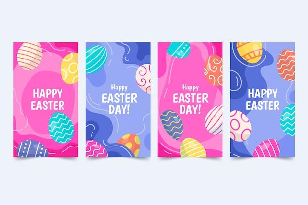 Thème Du Jour De Pâques Pour La Collection D'histoires Instagram Vecteur gratuit