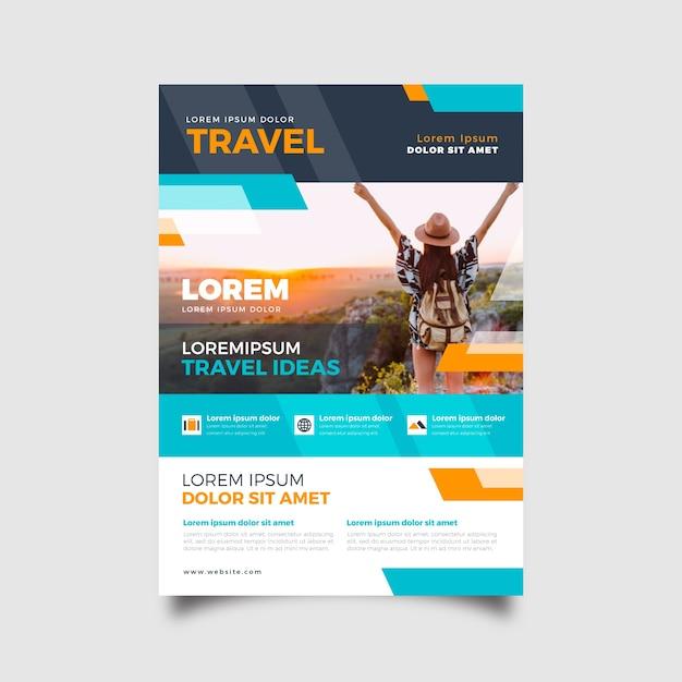 Thème Du Modèle Pour L'affiche De Voyage Vecteur gratuit