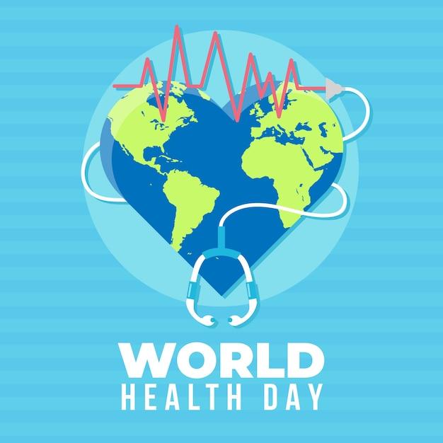 Thème De L'événement De La Journée Mondiale De La Santé Vecteur gratuit