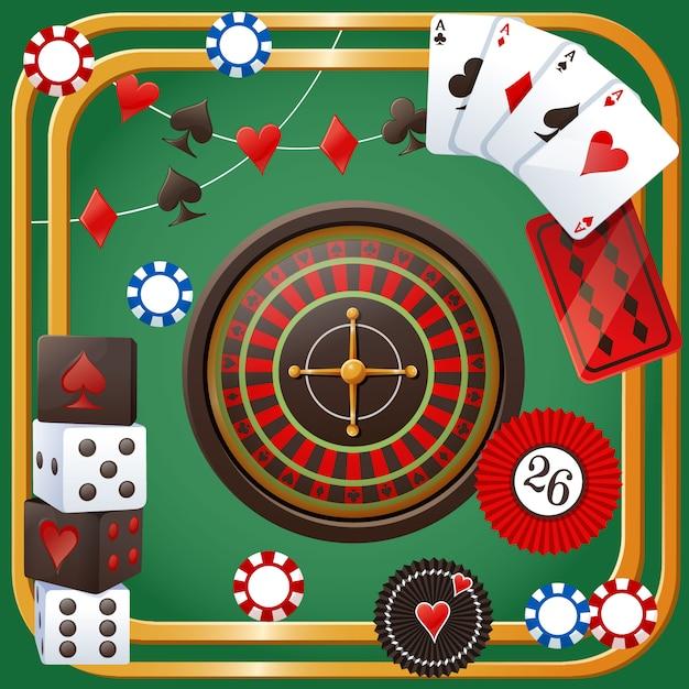 Thème de fête de casino Vecteur Premium