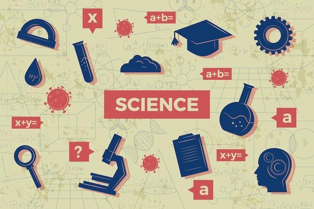 Thème De Fond De L'éducation Scientifique Vintage Vecteur gratuit