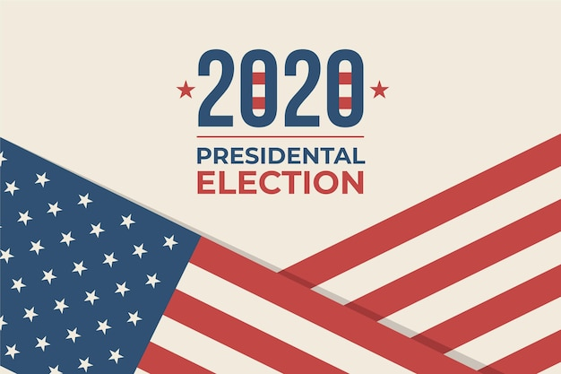 Thème De Fond De L'élection Présidentielle Américaine 2020 Vecteur Premium