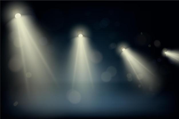Thème De Fond De Spots Lumineux Vecteur gratuit