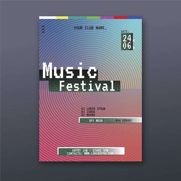 Thème De Modèle D'affiche De Musique Abstraite Vecteur gratuit