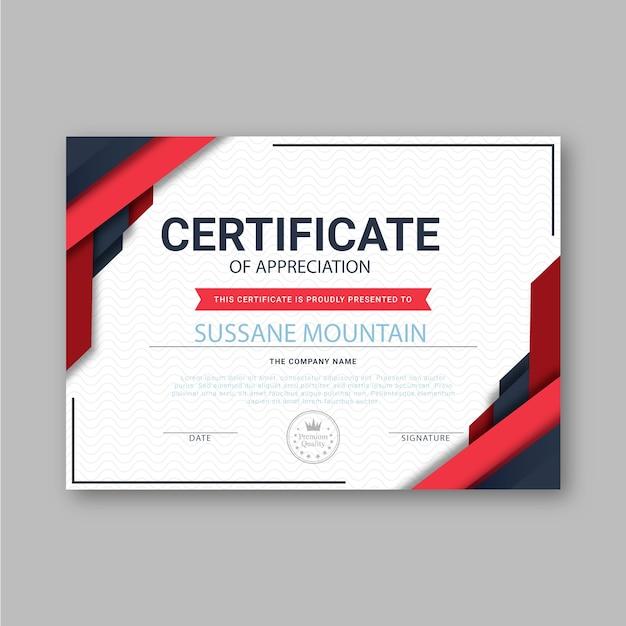 Thème De Modèle De Certificat Abstrait Vecteur Premium
