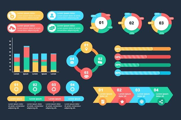 Thème De Modèle De Collection D'éléments Infographiques Vecteur gratuit