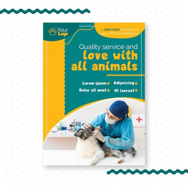 Thème De Modèle De Flyer Vétérinaire Vecteur gratuit