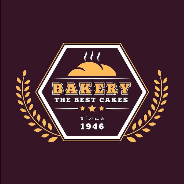 Thème De Modèle De Logo Rétro Backery Vecteur gratuit