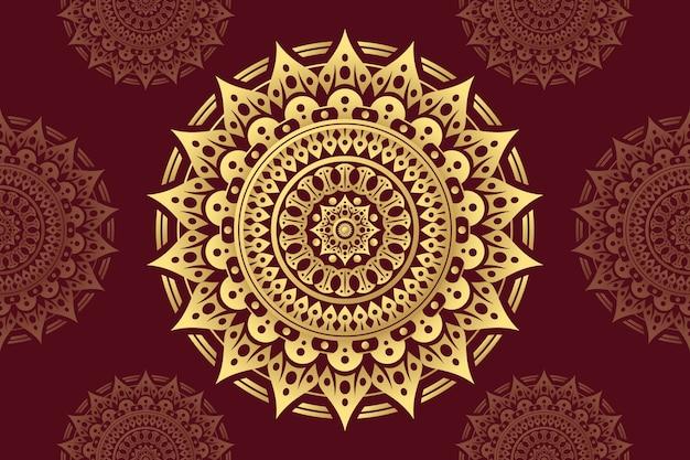 Thème De Papier Peint De Luxe Mandala Vecteur gratuit
