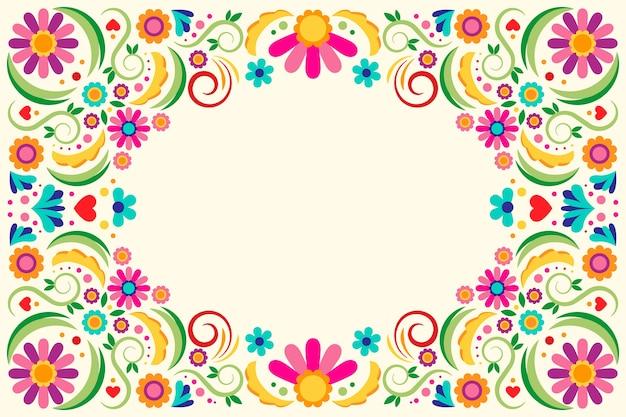 Thème De Papier Peint Mexicain Multicolore Vecteur gratuit
