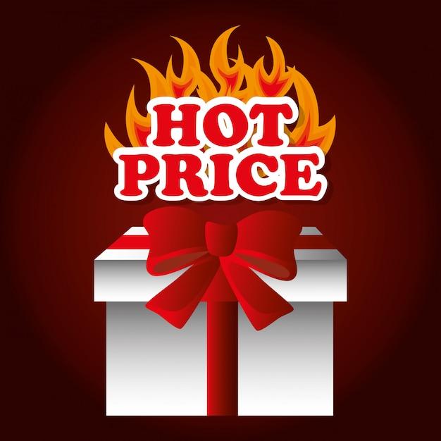 Thème des prix d'achat chaud Vecteur gratuit