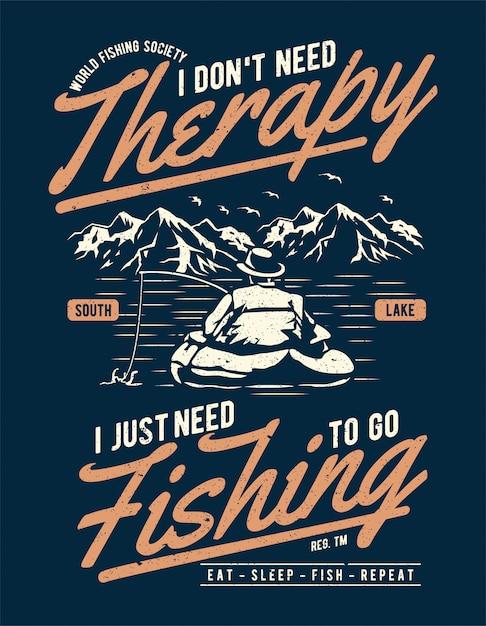 Thérapie de pêche Vecteur Premium