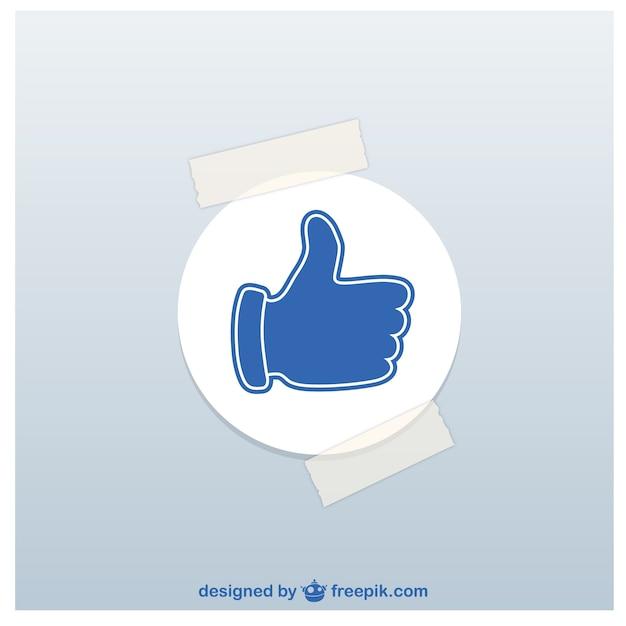 Thumbs Up Autocollant Vecteur gratuit