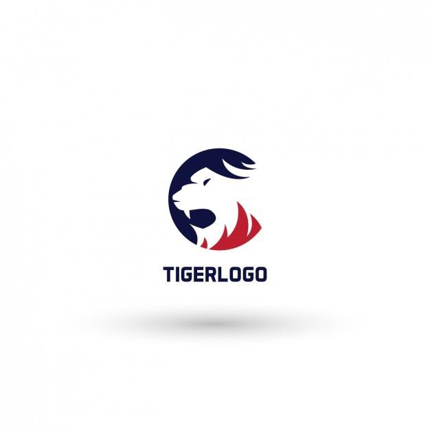 Tiger logo template Vecteur gratuit