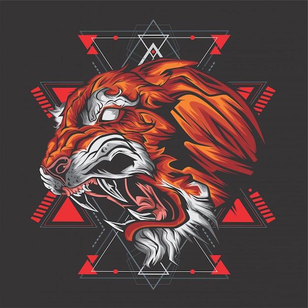 Le tigre Vecteur Premium