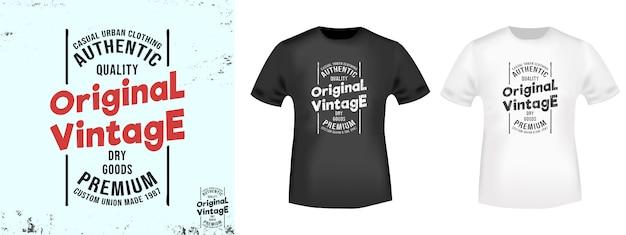 Timbre imprimé t-shirt vintage original Vecteur Premium