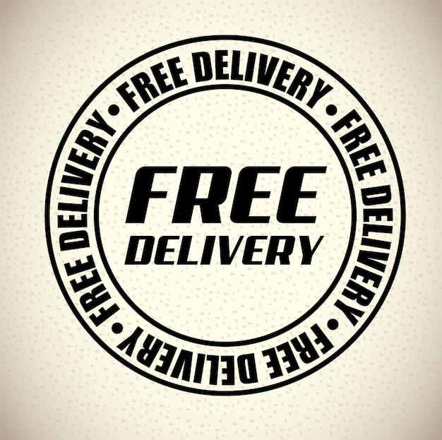 Timbre de livraison Vecteur gratuit