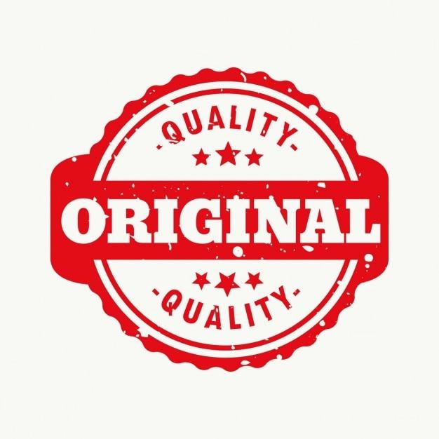 Timbre Qualité Originale Vecteur gratuit