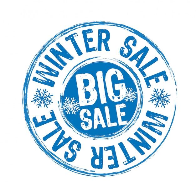 Timbre de vente d'hiver Vecteur Premium