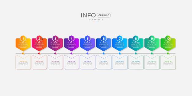 Timeline Business Infographic Avec Icônes Et Options Ou étapes Vecteur Premium