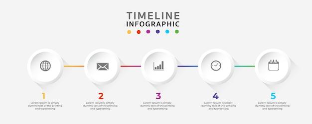 Timeline Infographics Design Template.vector Illustrateur Vecteur Premium