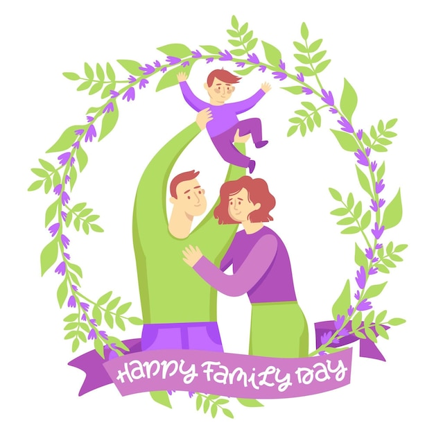 Tirage De La Journée Internationale Des Familles Vecteur gratuit
