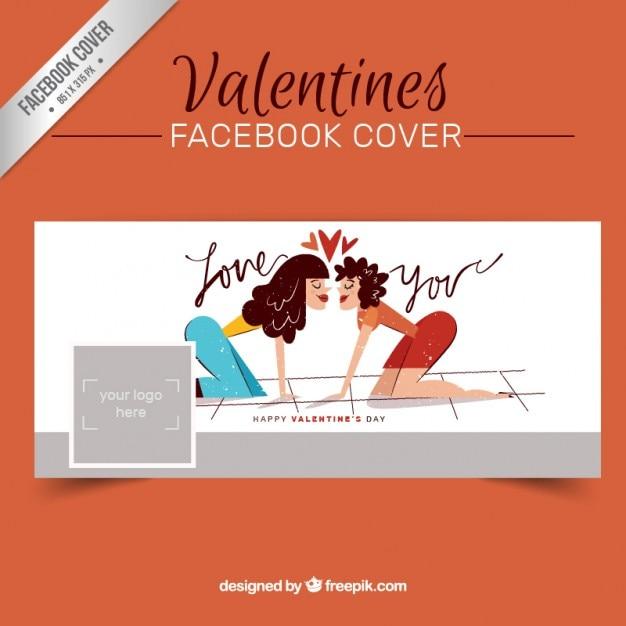 Tiré Par La Main Couple Romantique Couverture Facebook