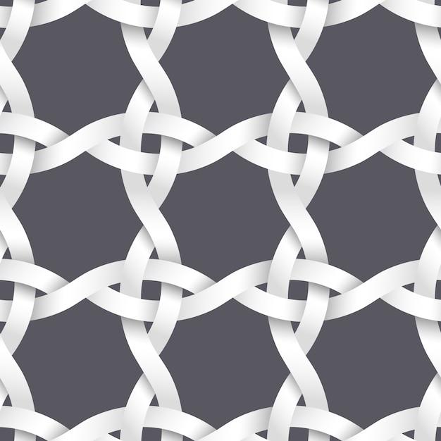 Tissage de bandes de papier Vecteur Premium