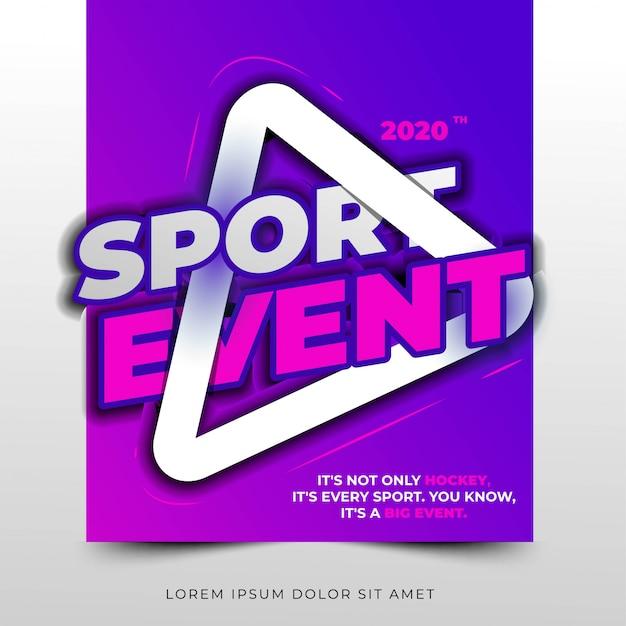 Titre typographique de l'événement sportif, mise en page simple et propre Vecteur Premium
