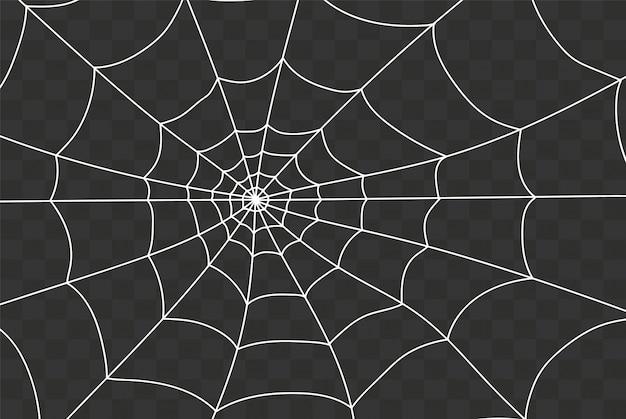 Toile D'araignée Effrayante Vecteur Premium