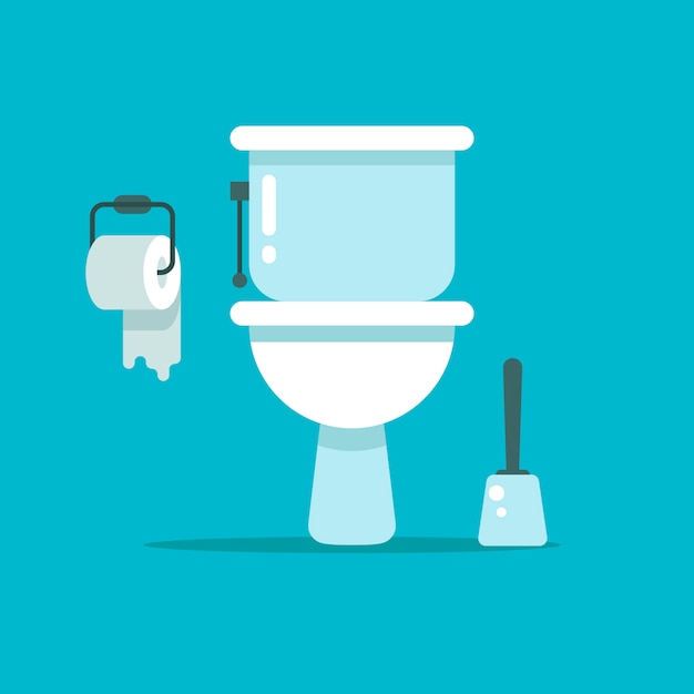 Toilettes Vecteur Premium