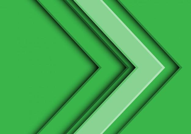 Ton futur vert flèche direction fond futuriste. Vecteur Premium