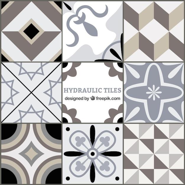 Tons gris tuiles géométriques Vecteur gratuit