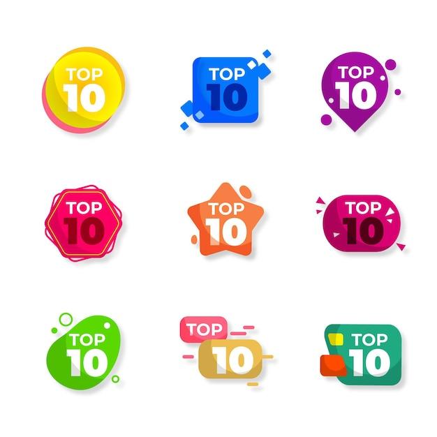 Top 10 Des Badges Vecteur gratuit