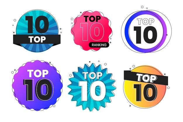 Top 10 Des Collections D'étiquettes Vecteur gratuit