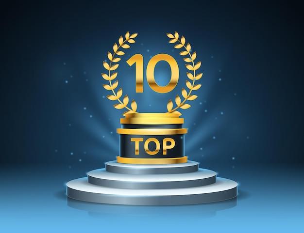 Top 10 Du Prix Du Meilleur Podium Vecteur gratuit
