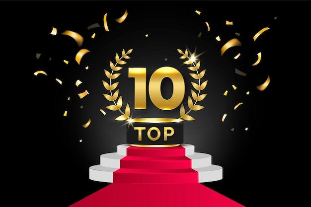 Top 10 Du Prix Du Meilleur Podium Vecteur Premium