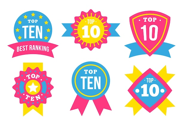 Top 10 Des Modèles D'étiquettes Vecteur gratuit