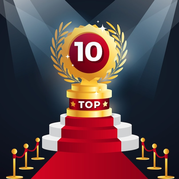 Top 10 Des Prix Du Meilleur Podium Vecteur gratuit