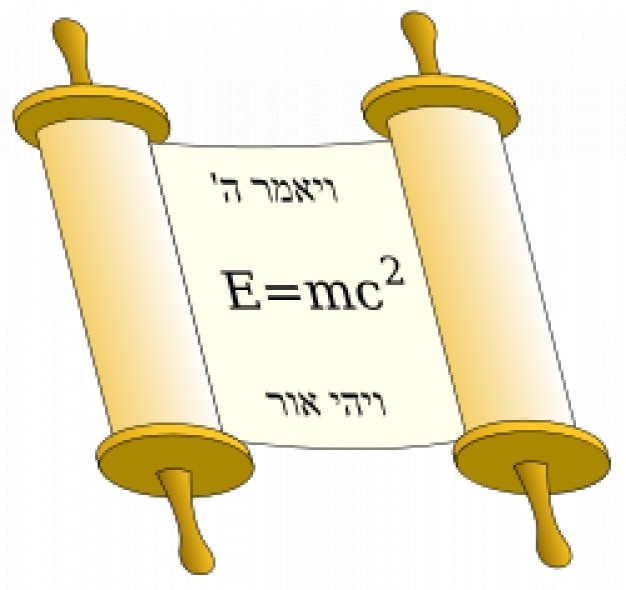 Tora défiler avec l'équation d'einstein Vecteur gratuit