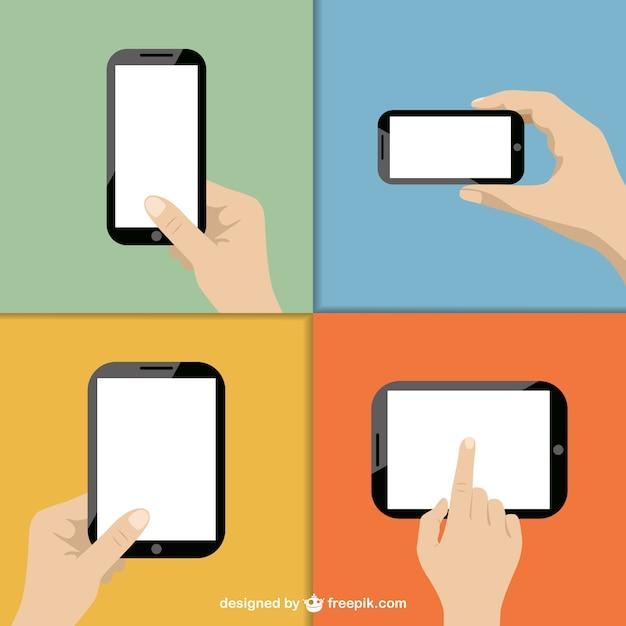 Toucher vecteur de la technologie d'écran Vecteur gratuit
