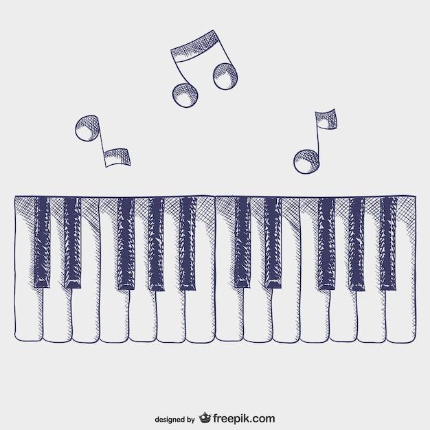 Touches De Piano Vecteur Vecteur gratuit