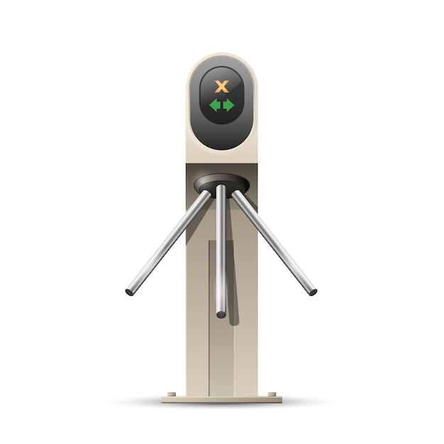 Tourniquet Moderne, Entrée De Carte - Système De Sécurité D'entrée, Concept D'accès Vecteur Premium