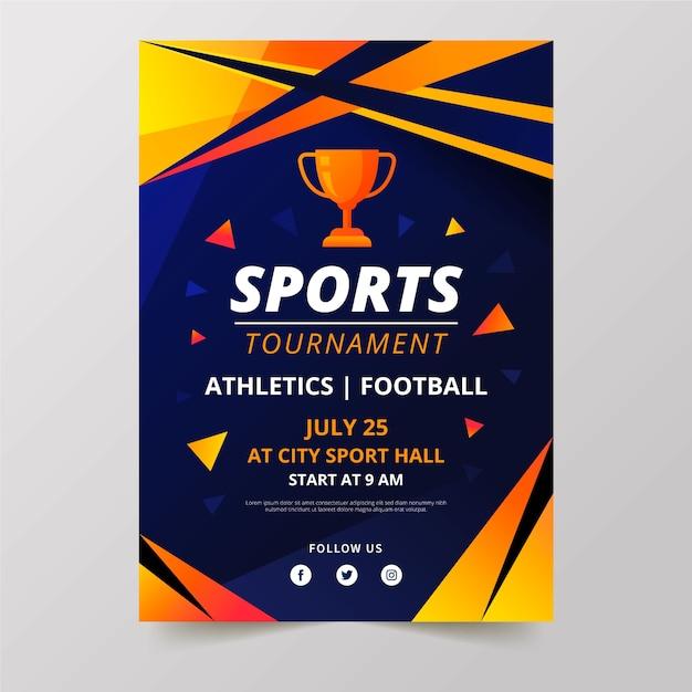 Tournoi De Conception D'affiches Sportives Vecteur gratuit