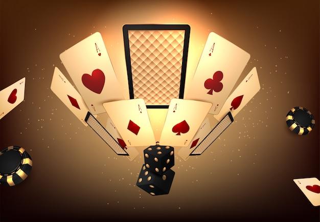 Tournoi de jeu de casino Vecteur Premium