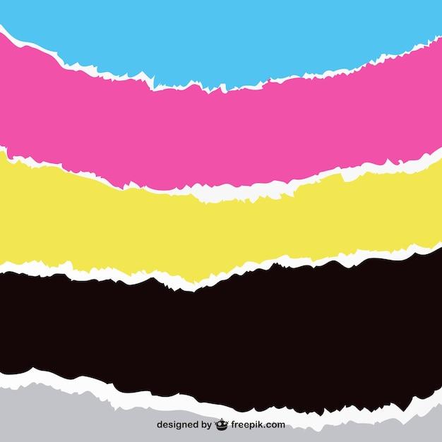 Tracés des bandes de couleur Vecteur gratuit