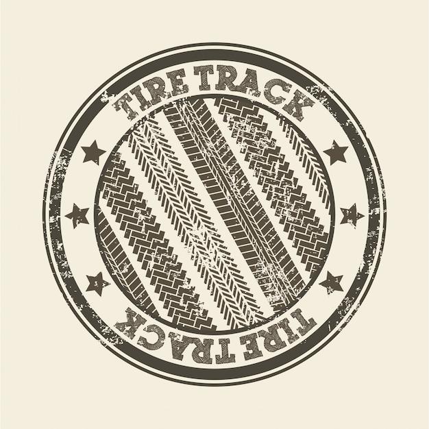 Traces de pneus sur illustration vectorielle fond rose Vecteur Premium