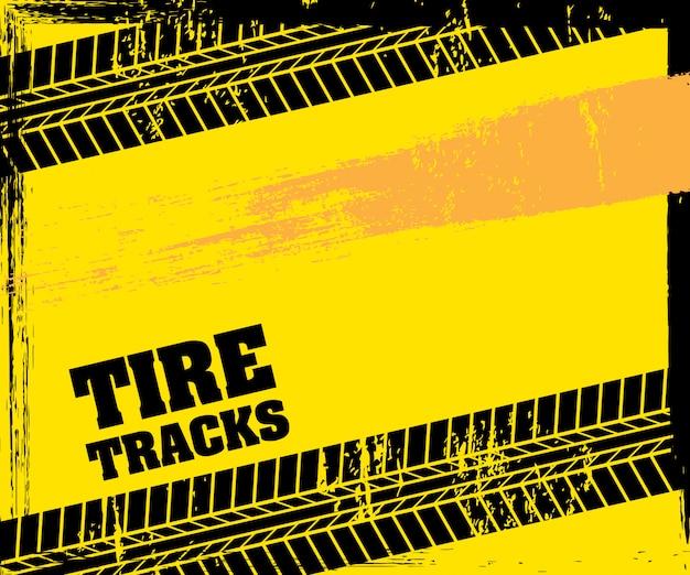 Traces de pneus Vecteur Premium