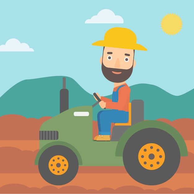 Tracteur de conduite Vecteur Premium