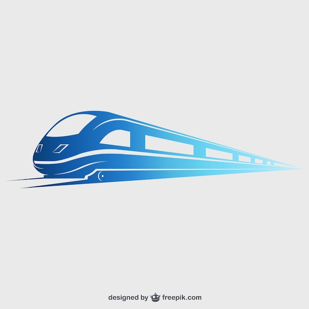 Train à Grande Vitesse Vecteur Premium